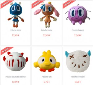 Peluches Dofus disponibles en Ankama-Shop