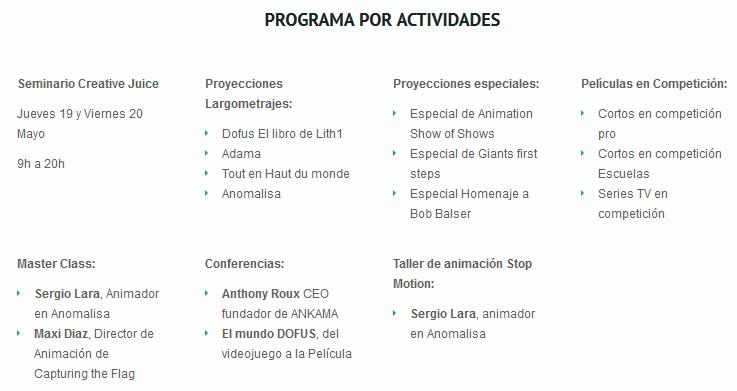 Programación Festival Non Stop Barcelona 2016